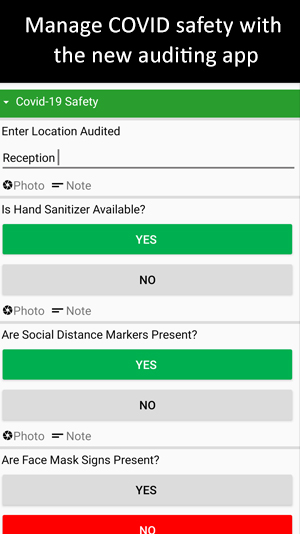 covid safety auditing app
